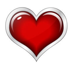 Herz Button blanko