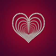 Сердце из жемчуга