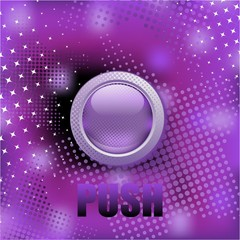 """Push the button"", abstract purple background"