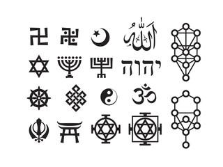 Mystique Symbols set VIII. Oriental Sacral Religious Signs