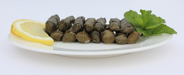 Plate of Stuffed Vine Leaves