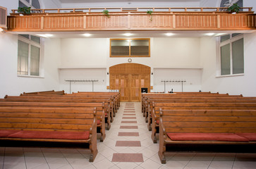 Interior of a small baptist church