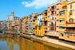 Houses over Onyar River in Girona, Spain