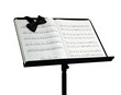 Bow tie on music stand