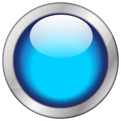 Button blanko blau