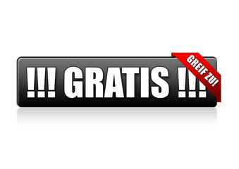 Gratis! Button, icon