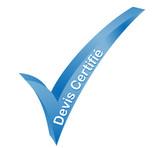 devis certifié validé bleu poster