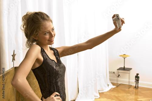 Mädchen mit Fotoapperat