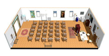 Sala Conferenze-Conference Room-3D-2