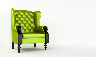 Green classic armchair