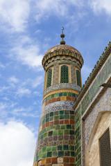 xinjiang: islamic minaret in kashgar