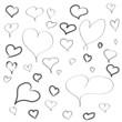 handgemalte Herzen