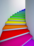 Spiral colorful stair to the future. - 29461063