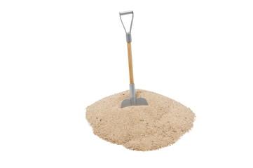 Sandhaufen mit Schaufel