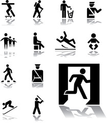 Set icons - 143. Pictographs of people