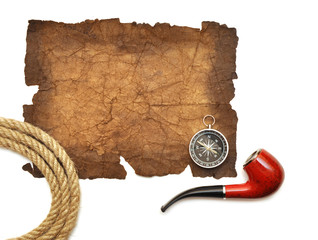 pipe, compass and rope