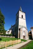 Fortified church in Transylvania, Richis, Romania poster