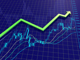 Fototapety Forex chart with trend arrow
