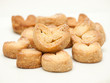Heart shaped puff pastry cookies