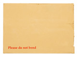Blank envelope for important documents.