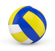 Ballon de volleyball sur fond blanc 1