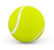 Balle de tennis sur fond blanc 1