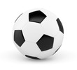 Ballon de football sur fond blanc 1