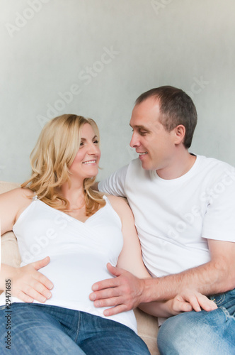 happy pregnant couple