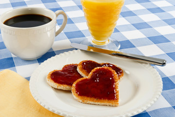 Romantic Valentine Breakfast