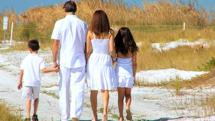 Happy Family Beach Leisure filmed at 60FPS