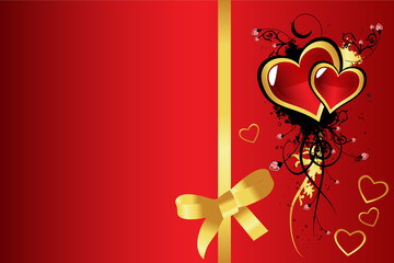 Valentine´s day greeting card vector