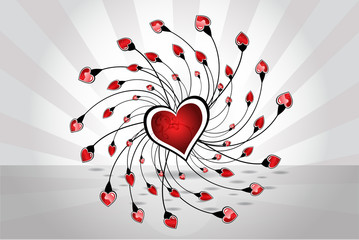 Beautiful Valentine´s day little heart love ring vector