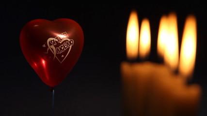 свечи и шарик