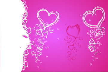 Valentine abstract background
