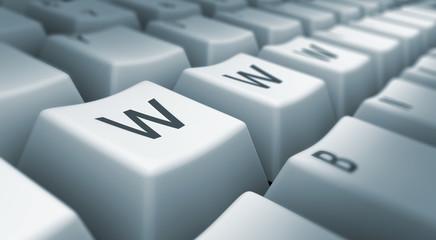 www printed on keyboard
