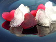 heart shape ice cubes