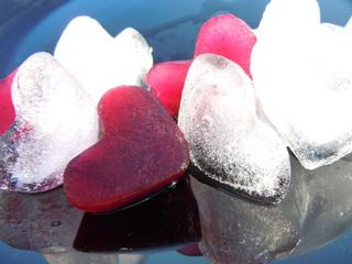 heart shape ice cubes