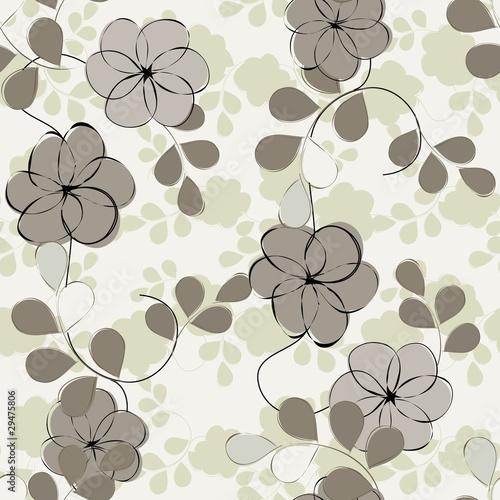 Floral seamless pattern © podoliaka