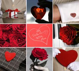 "Collage ""Valentinstag"""