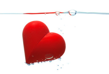 red heart with bubbles