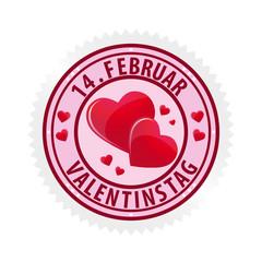 14 Februar Button