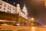 Wawel castle in night poster