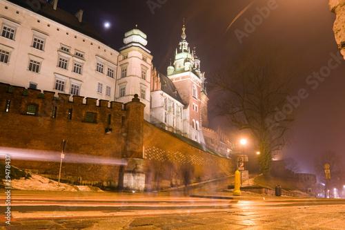 poster of Wawel castle in night