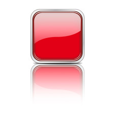 Web Button eckig rot