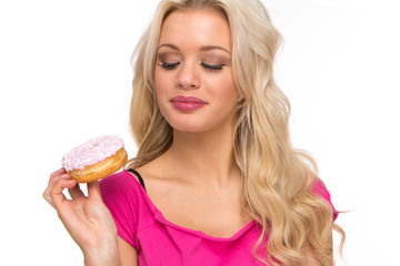 sweet pink donut
