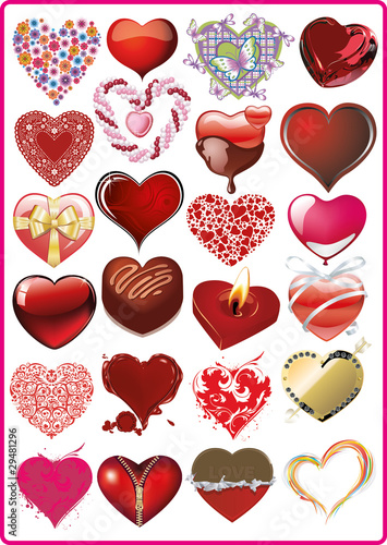 Beautiful collection of hearts