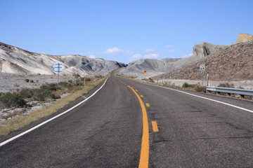Road through central Utah