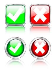 """Button Set """"wählen"""" rund und eckig"""
