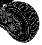 Detail Of A Motorcycle's Rear Wheel Vector 02