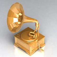 Golden Antique Gramophone 02